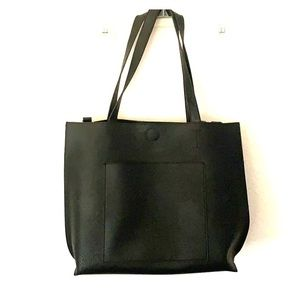 Forever21 black leather Tote